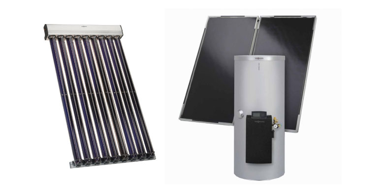 Viessmann solar hot water systems can save you time and money! Call Pring today to get your solar water heating system.